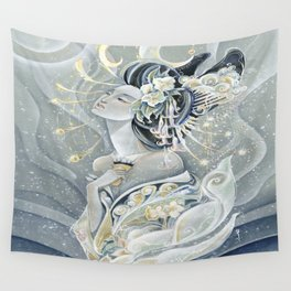 Moon Oiran Wall Tapestry