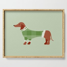 Holiday Sweater Dog Serving Tray