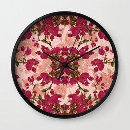 Retro Vintage Floral Motif Wall Clock