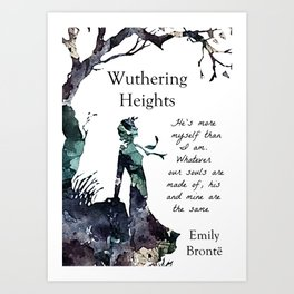 Wuthering Heights Emily Bronte Art Print