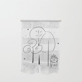 Magical Forest Illustration Wall Hanging