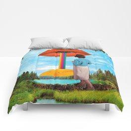 Lips & Rainbow Comforters
