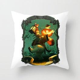 Jack-O-Lantern Throw Pillow