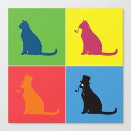 Warholian Cats Canvas Print