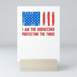 Dispatcher Security Guard Us Flag Operator Mini Art Print