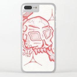 Skull & Scythe Clear iPhone Case