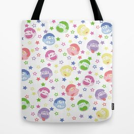 Six Same Faces Tote Bag