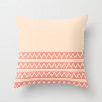 peach Throw Pillows featuring Peach by Lyle Hatch