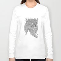 beast Long Sleeve T-shirts featuring Beast by Olya Goloveshkina