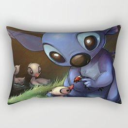 LILO E STITCH: CUTE STITCH PLAYING Rectangular Pillow