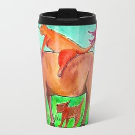 CATS ON MY BACK Travel Mug