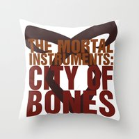 mortal instruments Throw Pillows featuring The Mortal Instruments: City of Bones by thespngames