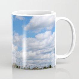 "Corn field in autumn with ""popcorn"" clouds Coffee Mug"