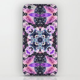 Kaleidoscope of night flowers iPhone Skin
