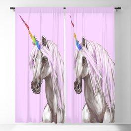 Pink Unicorn Blackout Curtain