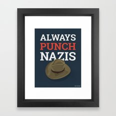 Always Punch Nazis Framed Art Print