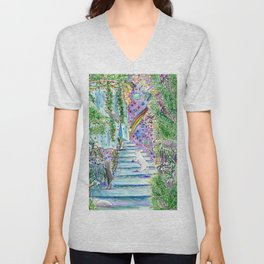 Bathroom To Another Dimension Unisex V-Neck