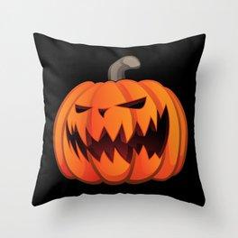 Jack O' Lantern Halloween Pumpkin Throw Pillow