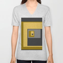 Yellow Squares Unisex V-Neck