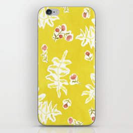 Daisy with Yellowed Green iPhone Skin