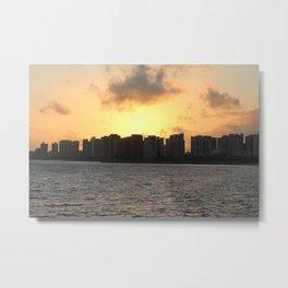 Beautiful Sunrise on the Coast of Fortaleza. Metal Print