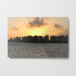 Beautiful Sunrise on the Coast of Fortaleza. Metal Print