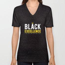 Black Excellence Unisex V-Neck