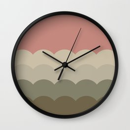 BROOKE ROSE - Mid Century Modern Abstract Pattern Graphic Design Wall Clock