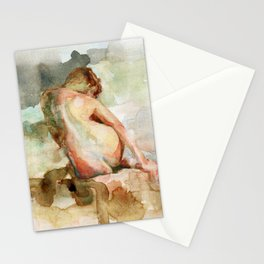 Watercolour Figure Stationery Cards