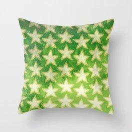 Star Fruit Paint pattern Throw Pillow