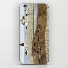 Seashore lighthouse and wild horses iPhone & iPod Skin