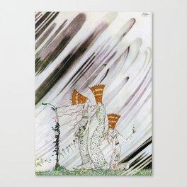 Kay Nielsen - Three Princesses Amazed By Snowstorm Canvas Print