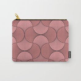 Gingko - Minimal Flower Leaves Soft Blush Carry-All Pouch