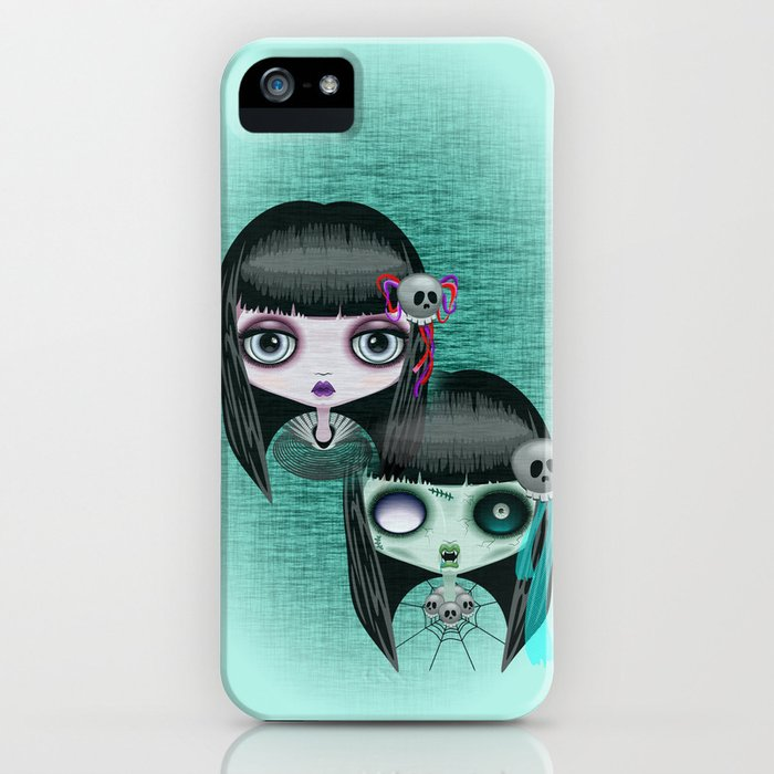 Zombie Doll The Dark Side iPhone Case