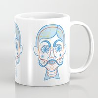 rare Mugs featuring A Rare Boy by Ukko