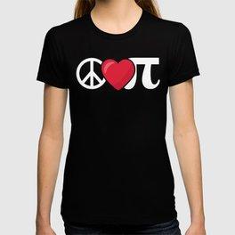 Peace Love Pi Math product T-shirt