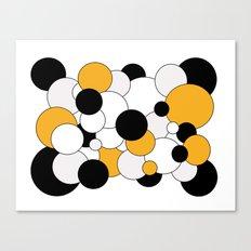 Bubbles - orange, black, gray and white Canvas Print
