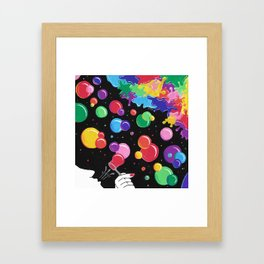 Bubbles colors the World !  Framed Art Print