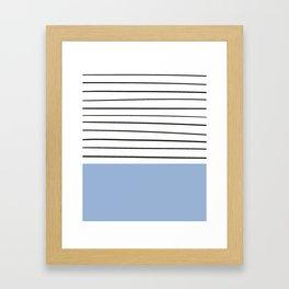 MARINERAS BLUE Framed Art Print
