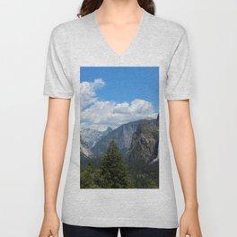 Half Dome and El Capitan, Yosemite, Spring 2020 Unisex V-Neck