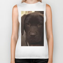 Cute Lab Puppy Biker Tank