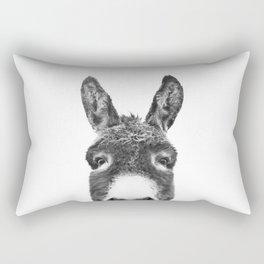 Hey Donkey BW Rectangular Pillow