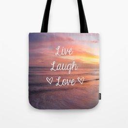 Live Laugh Love - Beach Tote Bag