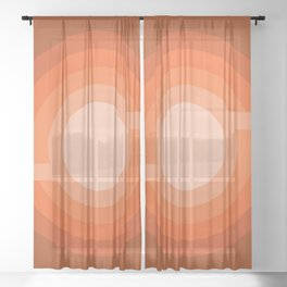 Moonspot - Red Rock Sheer Curtain