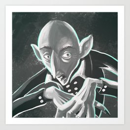 creepy spooky nosferatu Art Print