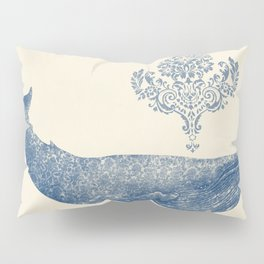 The Damask Whale  Pillow Sham