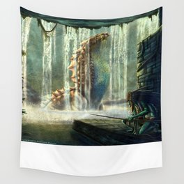 Water Nymph Hunt Wall Tapestry
