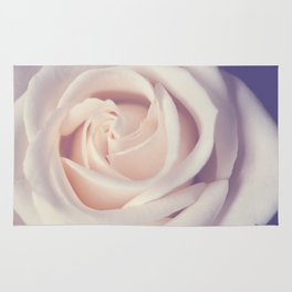 An Offering White Rose Rug
