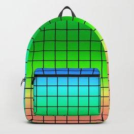 Rainbow plaid #Rainbow #plaid #Ombre #gradient Backpack