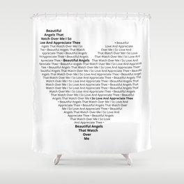 Beautiful Angels' Heart Shower Curtain